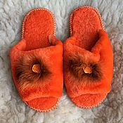 Обувь ручной работы handmade. Livemaster - original item Sheepskin Slippers women`s size 38. Handmade.