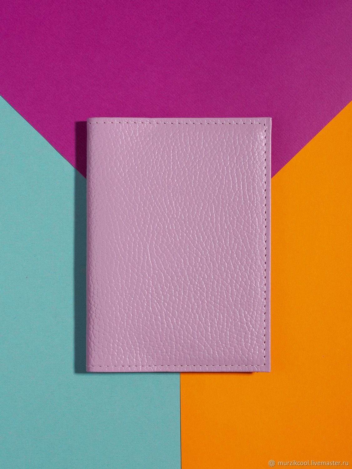 Passport cover 'Classic' Light purple, Cover, Moscow,  Фото №1