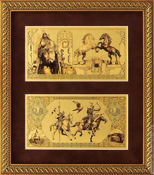 Подарки для мужчин, ручной работы. Ярмарка Мастеров - ручная работа. Купить Золотые деньги Чингисхана.. Подарок. Картина-сувенир. Handmade.
