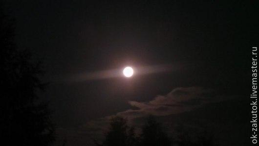 Фотокартины ручной работы. Ярмарка Мастеров - ручная работа. Купить ЛУННАЯ НОЧЬ. Handmade. Луна, ночь, свет, тьма, облака