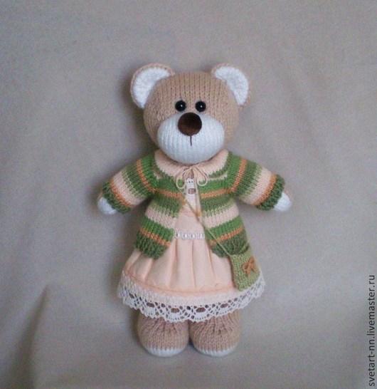 Игрушки животные, ручной работы. Ярмарка Мастеров - ручная работа. Купить Медвежонок вязаный. Handmade. Медвежонок, шерсть