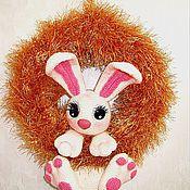 Куклы и игрушки ручной работы. Ярмарка Мастеров - ручная работа Зайка на веночке.Связан крючком. Handmade.