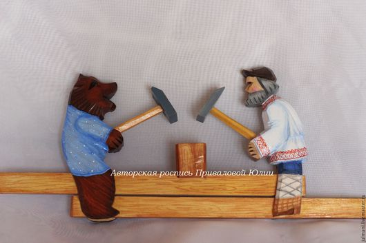 """Развивающие игрушки ручной работы. Ярмарка Мастеров - ручная работа. Купить Богородская игрушка """"Кузнецы"""", авторская ручная роспись. Handmade."""