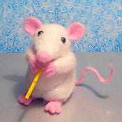 Куклы и игрушки ручной работы. Ярмарка Мастеров - ручная работа Мышонок-музыкант. Handmade.