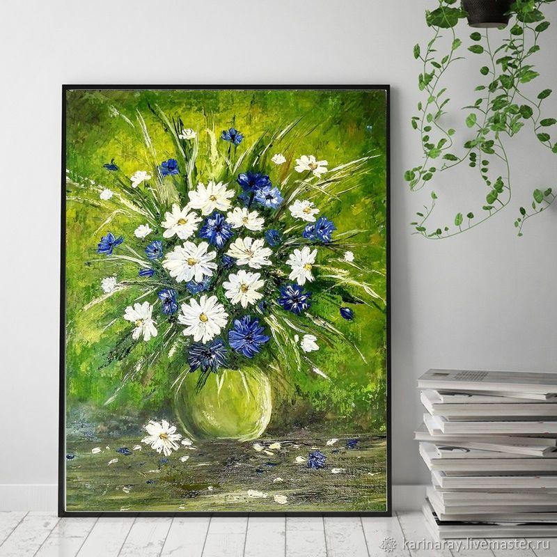 0e8cf85661f Картины цветов ручной работы. Ярмарка Мастеров - ручная работа. Купить  Картина маслом