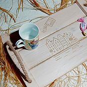 """Для дома и интерьера handmade. Livemaster - original item """"Письмо из Амстердама""""Столик для завтрака,столик для завтрака в постели,поднос. Handmade."""