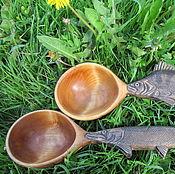 Посуда ручной работы. Ярмарка Мастеров - ручная работа Деревянные ложки-поварешки для ухи в подарок рыбаку-любителю. Handmade.