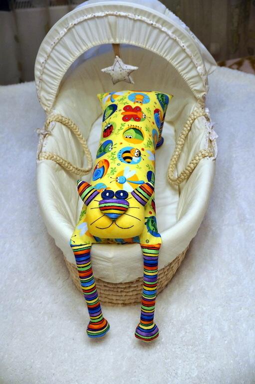 """Игрушки животные, ручной работы. Ярмарка Мастеров - ручная работа. Купить Игрушка-подушка """"Радужный кот"""" радужное лето. Handmade."""