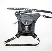 Сумки и аксессуары handmade. Livemaster - original item Biker belt bag