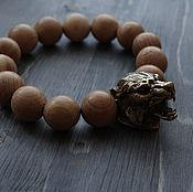 Украшения handmade. Livemaster - original item The author`s large bracelet Grey Wolf. Handmade.