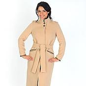 Одежда ручной работы. Ярмарка Мастеров - ручная работа Пальто с кожаными деталями. Handmade.