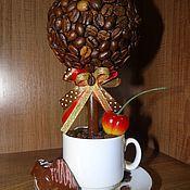 """Цветы и флористика ручной работы. Ярмарка Мастеров - ручная работа Топиарий """"Кофе с конфетами"""". Handmade."""