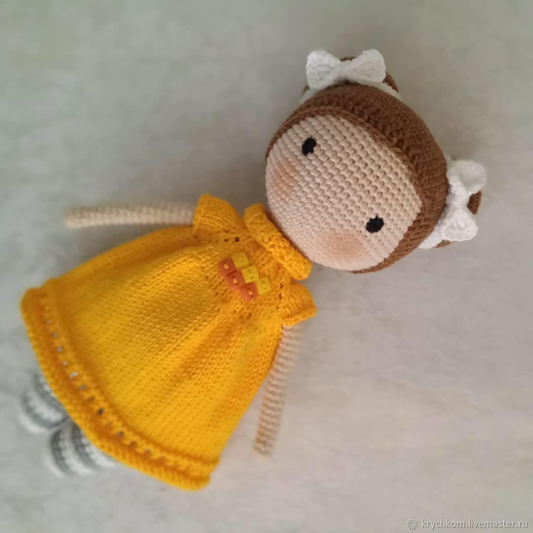 Doll in yellow, Amigurumi dolls and toys, Kamyshin,  Фото №1