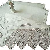 Свадебный салон handmade. Livemaster - original item Wedding towel Mirror. Hand embroidery. Len.. Handmade.