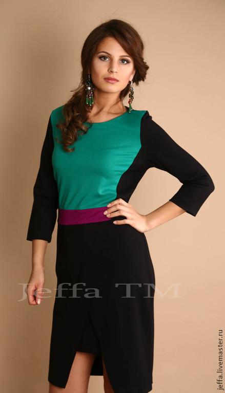 Платья ручной работы. Ярмарка Мастеров - ручная работа. Купить Платье из джерси арт.5289. Handmade. Зеленый, модное платье