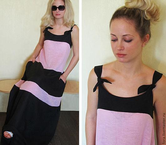 Платья ручной работы. Ярмарка Мастеров - ручная работа. Купить Платье двухцветное,  р.44 - 52. Handmade. Платье, платья