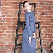 Одежда ручной работы. Ярмарка Мастеров - ручная работа Длинное платье в пол из итальянского мериноса, элегантное платье макси. Handmade.