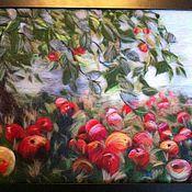 """Картины и панно ручной работы. Ярмарка Мастеров - ручная работа картина из шерсти  """"Яблочный спас"""". Handmade."""