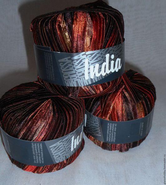 Вязание ручной работы. Ярмарка Мастеров - ручная работа. Купить Пряжа ленточная India Италия. Handmade. Комбинированный, пряжа пима