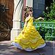 Желтое нарядное бальное платье для девочки Маленькая принцесса Беллькарнавальный костюм для девочки. Новогодний костюм. Новогодний костюм Белль.