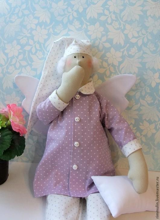 Куклы Тильды ручной работы. Ярмарка Мастеров - ручная работа. Купить Сонные ангелы. Handmade. Сиреневый, сплюшка, тильда ангел