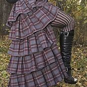 Одежда ручной работы. Ярмарка Мастеров - ручная работа Юбка со шлейфом Необычный день. Handmade.