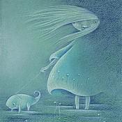 Картины и панно ручной работы. Ярмарка Мастеров - ручная работа Ночная прогулка  Репродукция. Handmade.