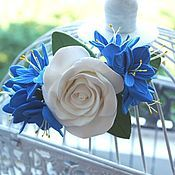 Headband handmade. Livemaster - original item Rim with flowers from polymer clay.. Handmade.