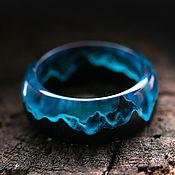 Украшения handmade. Livemaster - original item Arctic Wood and Resin Ring. Handmade.