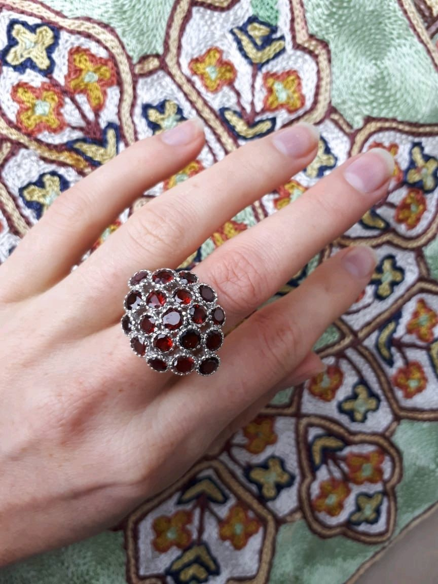 VIRTA-a rich ring with almandine garnets, Rings, Moscow,  Фото №1