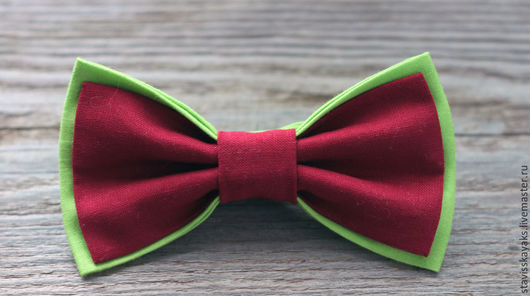 Галстуки, бабочки ручной работы. Ярмарка Мастеров - ручная работа. Купить Галстук-бабочка. Handmade. Бордовый, оливковый, галстук-бабочка