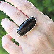 Украшения handmade. Livemaster - original item 925 Silver Obsidian Ring ALS0014. Handmade.