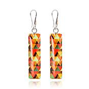 Украшения handmade. Livemaster - original item Rectangular orange earrings