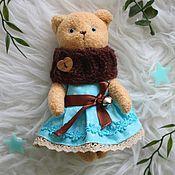 Куклы и игрушки ручной работы. Ярмарка Мастеров - ручная работа Мишка. Тедди.В голубом.. Handmade.