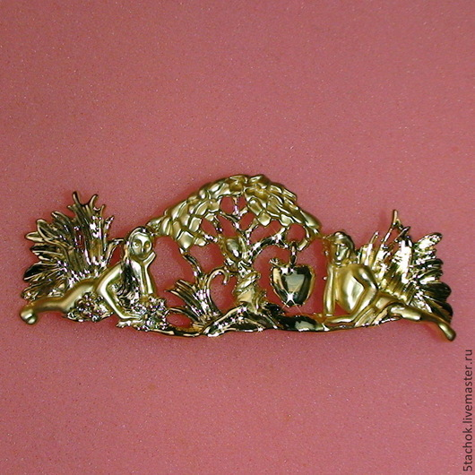 """Винтажные украшения. Ярмарка Мастеров - ручная работа. Купить Брошь """"Адам и Ева"""" под золото  (A.J.C. США). Handmade."""