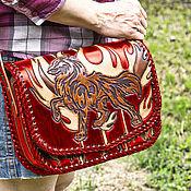 Сумки и аксессуары handmade. Livemaster - original item Leather Semargl bag. Handmade.