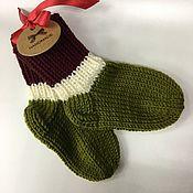 Работы для детей, handmade. Livemaster - original item the baby socks. Handmade.