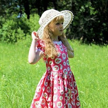 Работы для детей, ручной работы. Ярмарка Мастеров - ручная работа Розовое летнее нарядное платье для девочки в стиле шебби шик. Handmade.