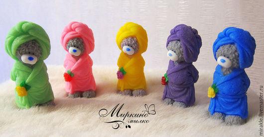 Мыло ручной работы. Ярмарка Мастеров - ручная работа. Купить Мыло Мишка в халате. Handmade. Оранжевый, подарок женщине