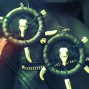 Украшения ручной работы. Ярмарка Мастеров - ручная работа Крупные серьги Хохот Шамана. Handmade.