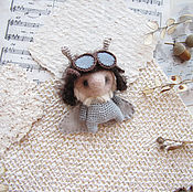 Куклы и игрушки ручной работы. Ярмарка Мастеров - ручная работа Игрушка Моль Авиатор - Пилот - Mole - Aviator - Pilot. Handmade.