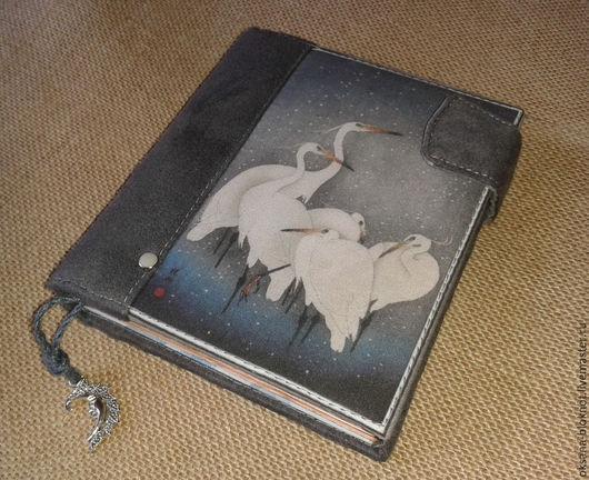 Блокноты ручной работы. Ярмарка Мастеров - ручная работа. Купить Блокнот ручной работы Белая Цапля (11,5х13х3см). Handmade.