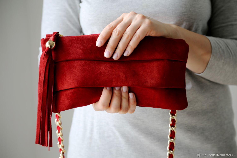 Handbags handmade. Livemaster - handmade. Buy Women's shoulder bag made of natural suede art. Four hundred seventy five.