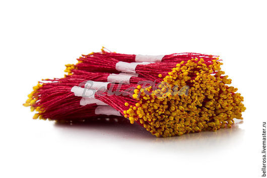 Материалы для флористики ручной работы. Ярмарка Мастеров - ручная работа. Купить Тычинки красная ножка желтая головка. Handmade. Разноцветный