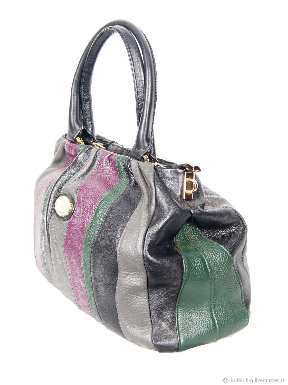16c0f6594 Vintage Handbags & Purses. Order Multi-colored genuine leather bag. Italy  ...