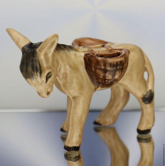 Винтажные предметы интерьера. Ярмарка Мастеров - ручная работа. Купить Осел ослик фарфор Англия 3. Handmade. Разноцветный, ослик