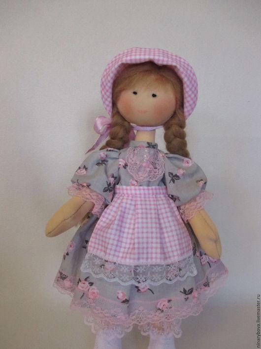 Куклы Тильды ручной работы. Ярмарка Мастеров - ручная работа. Купить Текстильная куколка Сонечка. Handmade. Бледно-розовый, кружево