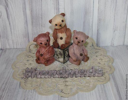 Мишки Тедди ручной работы. Ярмарка Мастеров - ручная работа. Купить Малыши (10 см). Handmade. Мишка, талисман