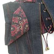 Одежда ручной работы. Ярмарка Мастеров - ручная работа Джинсовый корсетный пояс. Handmade.
