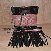 Сумки и аксессуары handmade. Livemaster - original item Bag made of Python leather with fringe art.1-404. Handmade.